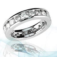 Moissanite Eternity Bands