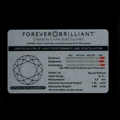 Forever brilliant moissanite guarantee details