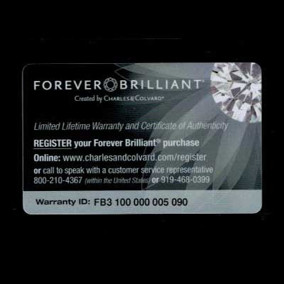 Forever brilliant moissanite guarantee front