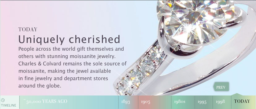 moissanite is fashioned into beautiful jewelry