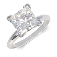 Moissanite Princess Solitaires