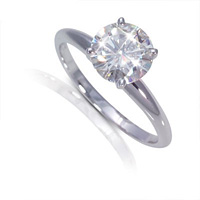 Moissanite Foreve Brilliant solitaire rings