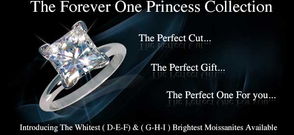 Princess Cut Solitaires