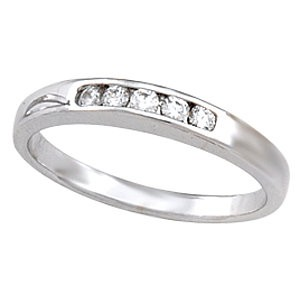 14K Diamond Wedding Band  for style 12022  .15 T.W. 14K WG