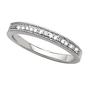 DIAMOND ENGAGEMENT BAND 1/8 CTTW 14K White Gold for Eng Ring 64617
