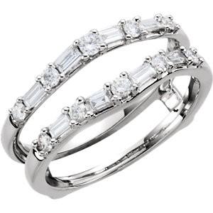 Diamond 1/2 ct tw Ring Guard 14K White Gold