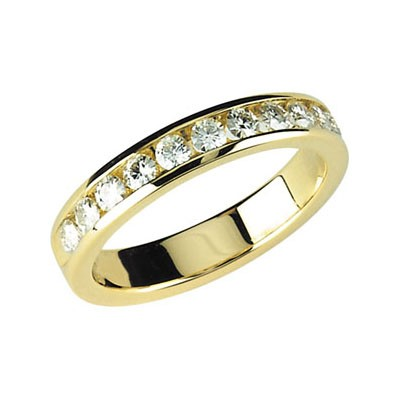 MOISSANITE ANNIVERSARY BAND SIZE 08.00/02.25 MM 14K Yellow Gold