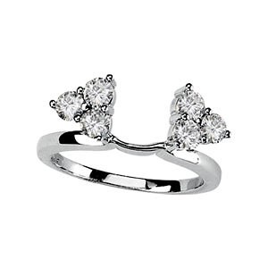 MOISSANITE ENHANCER RING GUARD 03.25 MM=3/4 CT 14K White Gold