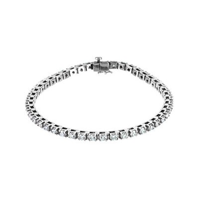 MOISSANITE TENNIS BRACELET 4 1/2 CT TW 14K White Gold