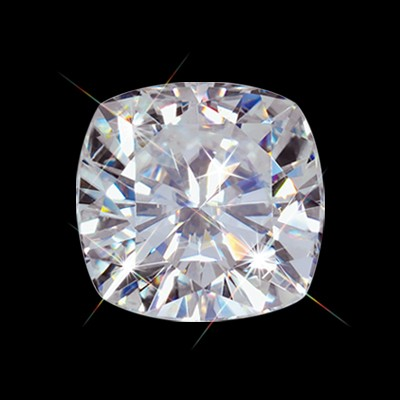 6.00 mm (1.10 carat) Forever One GHI Loose Cushion Cut Moissanite