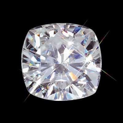 6.50 mm (1.30 carat) Forever One DEF Loose Cushion Cut Moissanite