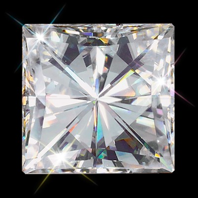Forever One 6.50 mm (1.70 carat)  Princess Cut Loose Moissanite