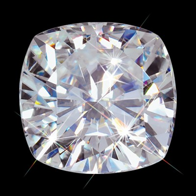 8.50 mm (2.75 carat) Forever One GHI Loose Cushion Cut Moissanite