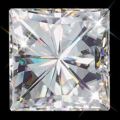 9.00 mm (4.30 carat) Forever Brilliant Princess Cut (Square Brilliant) Loose Moissanite