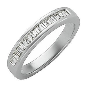 14K Diamond Baguette Wedding Band  .33 T.W. 14K WG