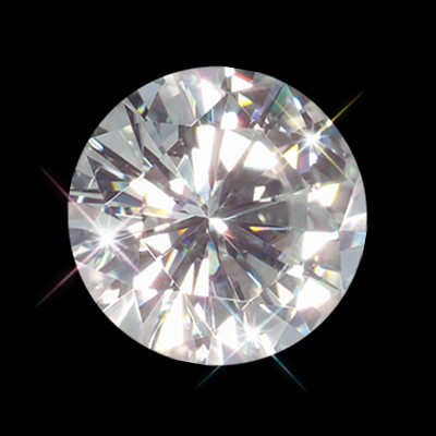 5.00 mm (.50 Carat)  Loose Round Forever One Moissanite GHI