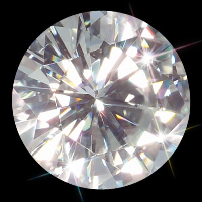 Forever One 9.00 mm (3 carat)  Loose Round Moissanite