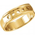 MOISSANITE GENT'S BAND FOREVER ONE ROUND 03.50 MM= .75 CT TW 14K Yellow Gold