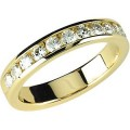 FOREVER ONE GHI MOISSANITE ANNIVERSARY BAND SIZE 06.00/03.00 MM 14K Yellow Gold