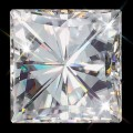 7.50 mm (2.30 carat) Forever One GHI Princess Cut Loose Moissanite