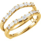 Diamond 1/2 ct tw Ring Guard 14K Yellow Gold