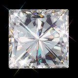 5.00 mm (.80 carat) Forever One GHI Princess Cut Loose Moissanite