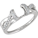 Diamond 1/5 ct tw Ring Guard Wrap 14K White Gold